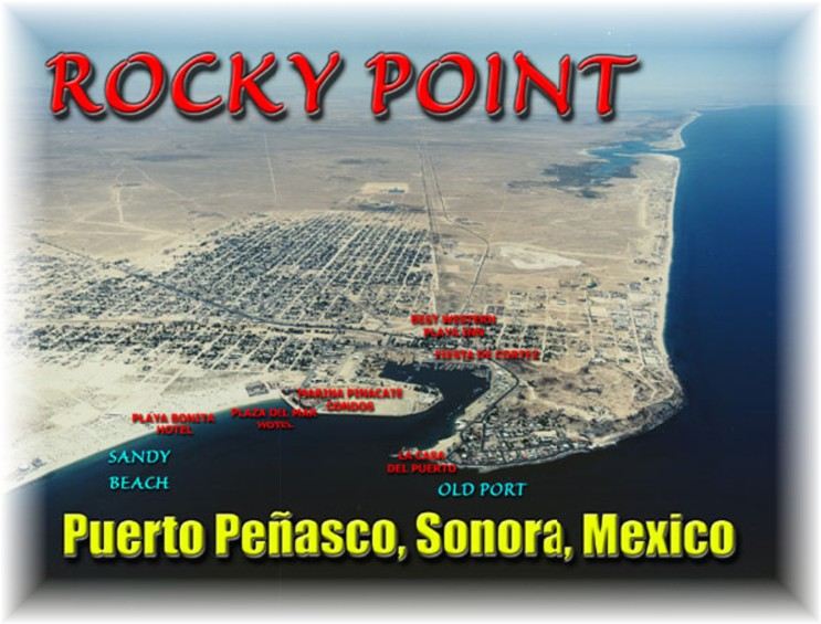Rocky Point,Mexico - Aerial view looking southeast